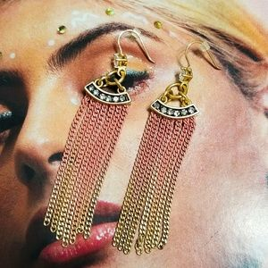 Juicy Couture Yellow & Pink Ombre Dangle Earrings